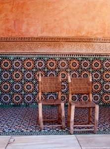 Medersa (Madrasa) Ben Youssef chairs